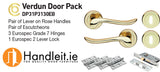 Verdun Handle,Lock And Hinges Door Pack Polished Brass