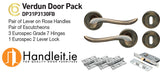 Verdun Handle,Lock And Hinges Door Pack Bronze Finish