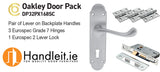 Oakley Handle,Lock And Hinges Door Pack Satin Chrome