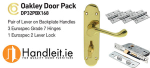 Oakley Handle,Lock And Hinges Door Pack Polished Brass