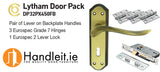 Lytham Handle,Lock And Hinges Door Pack Bronze