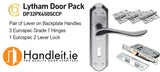 Lytham Handle,Lock And Hinges Door Pack Satin/Polished Chrome