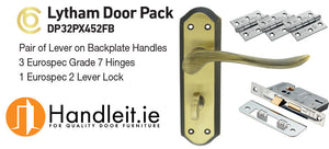 Ultimate Grantham Handle,Lock And Hinges Door Pack Bronze