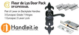 Carlisle Fleur De Lys Lever On Lock Plate Door Pack Black Finish