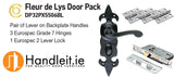 Carlisle Fleur De Lys Lever On WC Plate Door Pack Black Finish