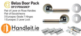 Carlisle Belas Door Pack Lever Handle Lock And Escutcheons