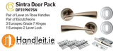 Sintra Handle,Lock And Hinges Door Pack Satin Nickel
