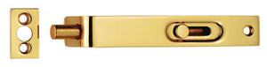 Carlisle Brass AA79 102mm Sunk Slide Flush Bolt Polished Brass