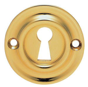 Carlisle Brass Delamain AQ41 Keyhole Escutcheon Polished Brass