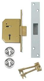 Chubb 3G115 BS 5 Lever Mortice Deadlock c/w Box Keep