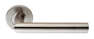 Eurospec Steelworx CSL1192 Mitred Grade304 Satin Stainless Steel Lever On Rose