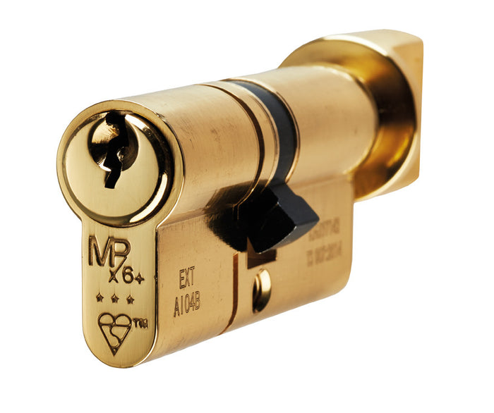 Eurospec MPX6 6 Pin Anti Snap Security Cylinder Brass Key & Turn
