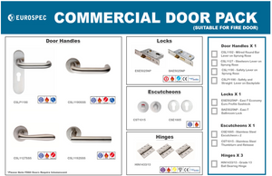 Eurospec Commercial Door Pack Mitred Lever,Locks & Hinges