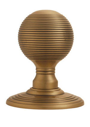 Carlisle Delamain DK37C Reeded Door Knobset On Concealed Fix Rose Bronze