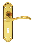 Carlisle Brass Madrid Door Handle On Plate 180x45mm