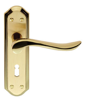 Carlisle Brass Lytham Door Handle On Plate 180x48mm