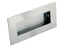 Eurospec FPH1000 Rectangular Flush Pull 102mm x 51mm Satin Stainless Stee