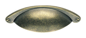 Finger Tip Design FTD555 Antique Brass Traditional Cup Handle 104mm x 25mm