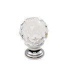Finger Tip Design FTD670 Crystal Clear Faceted Knob