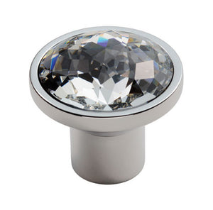 Finger Tip Design FTD770 Round Crystal Knob Polished Chrome