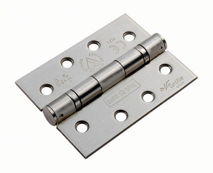 Eurospec Square Corner HIN1433/13 102x76x3mm Grade 13 Ball Bearing Butt Hinge