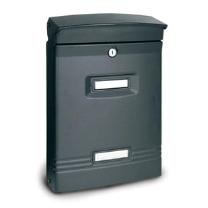 Alubox Ibiza Italian Made Letterbox Cast Iron Grey