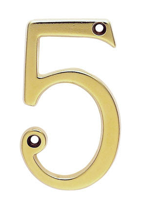 Carlisle Numeral 75mm Polished Brass 10 Year Manufacturers Warranty