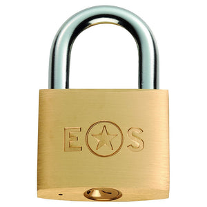Eurospec Brass Padlock Standard Shackle Keyed Alike