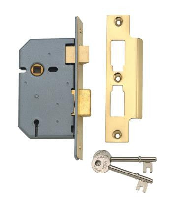 "Union 2277 4"" Mortice 3 Lever Sashlock"