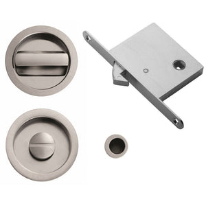 Manital ART55B Sliding Door Bathroom Lock Set