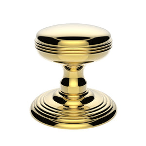 Carlisle Delamain DK39C Ringed Door Knobset On Concealed Fix Rose Polished Brass