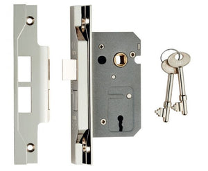 Eurospec Easi T 2 Lever Rebated Sashlock 64mm CE Certified