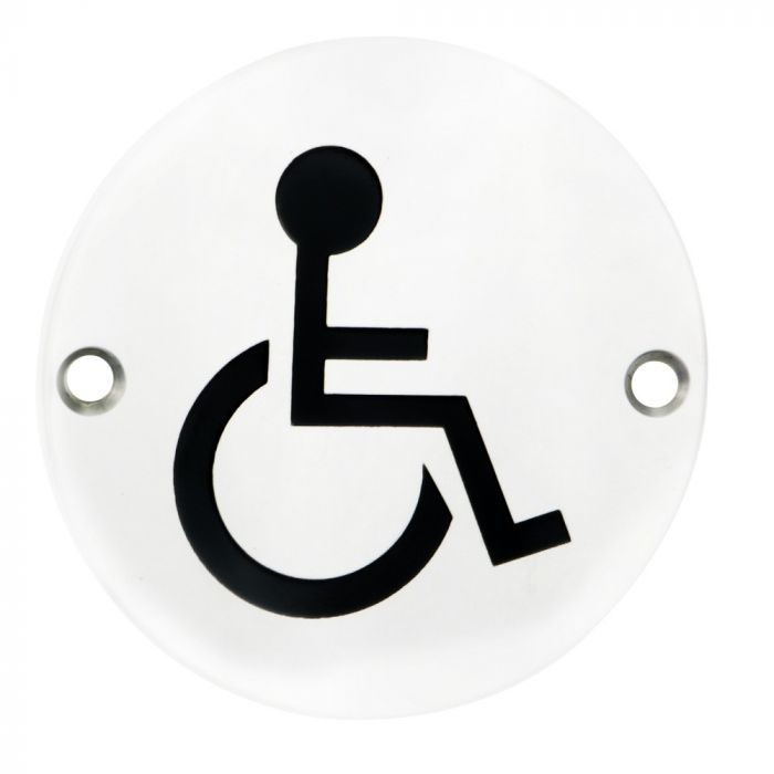 "Eurospec SEX1017 ""Disabled"" Symbol 76mm Disc  Stainless Steel"
