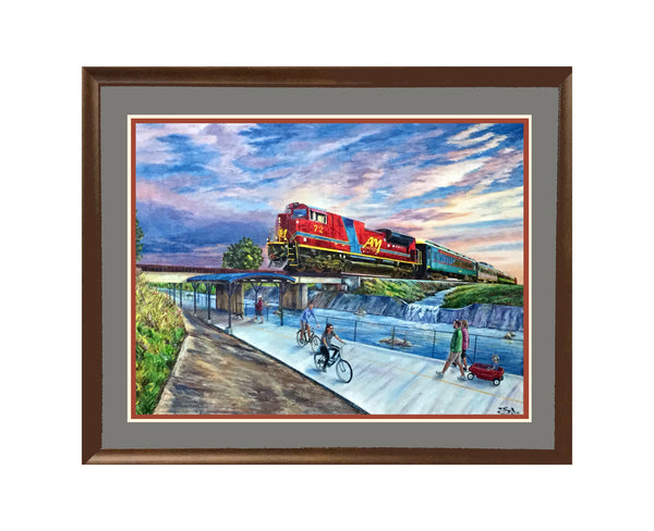 "Smaller - 24"" X 18"" Arkansas & Missouri Railroad - ""Best of Springdale Art Series"""