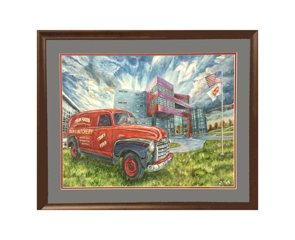 "Smaller - 24"" X 18"" Tyson Foods - ""Best of Springdale Art Series"""