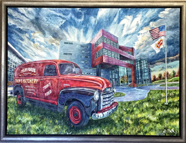 "Larger - 32"" X 24"" Tyson Foods - ""Best of Springdale Art Series"""