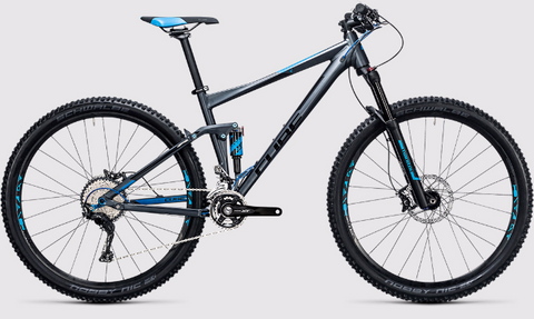 the CUBE STEREO 120 HPA RACE 29 2017 full suspension bike