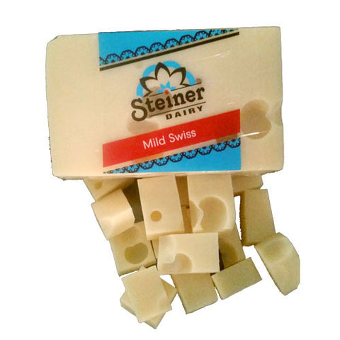 Steiner Dairy's award winning Mild Swiss Cheese