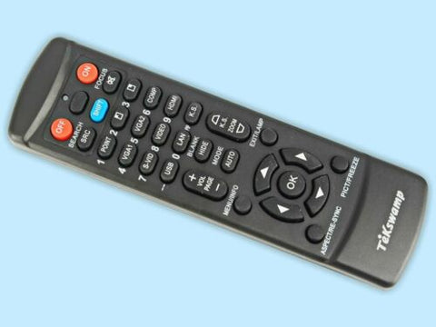 TeKswamp Video Projector Remote Control for InFocus IN3128HD