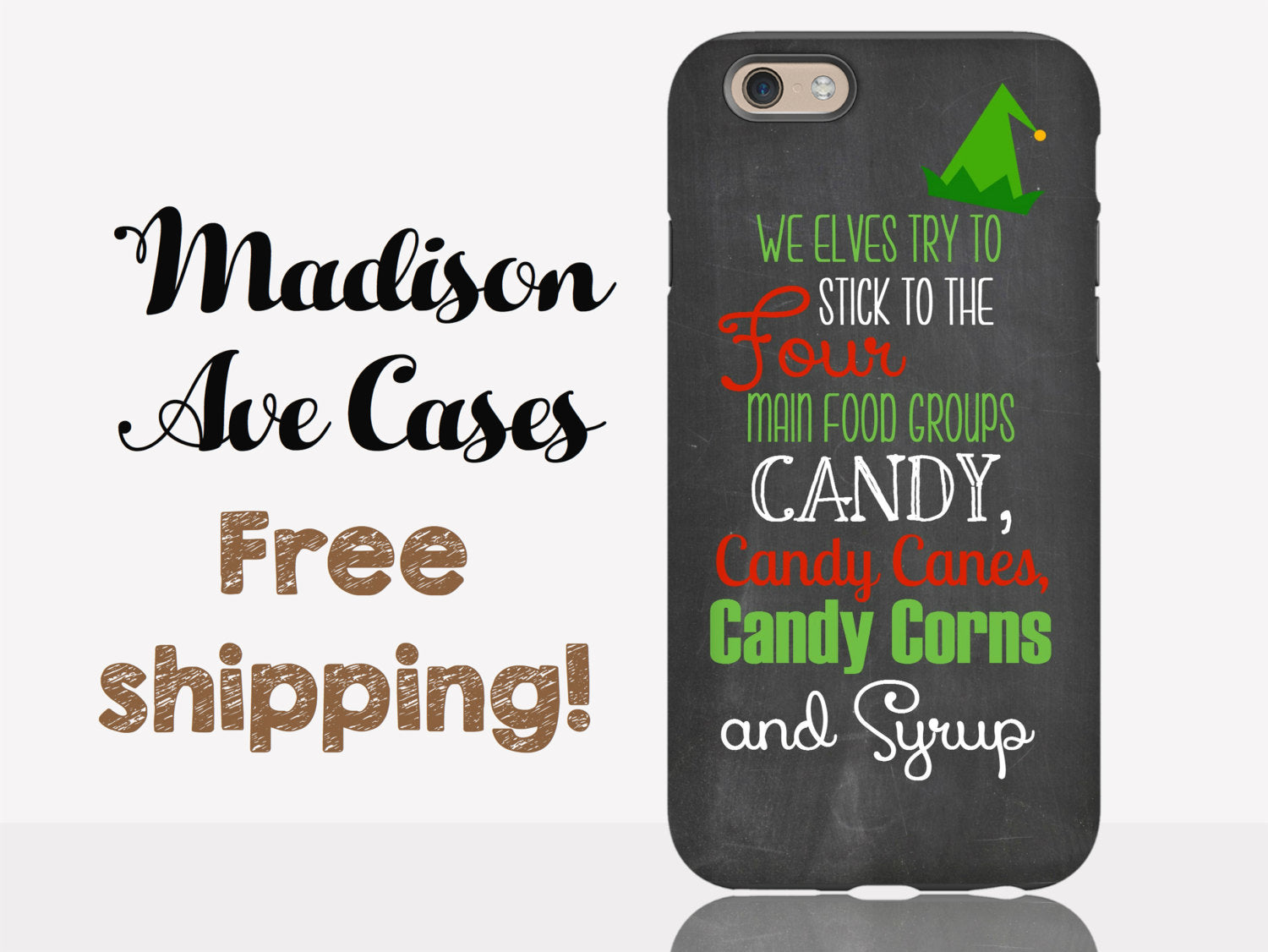 Phone Case Buddy The Elf Christmas Holiday Four Main Food Groups ...