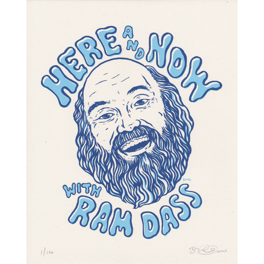 Ram Dass Here & Now Poster