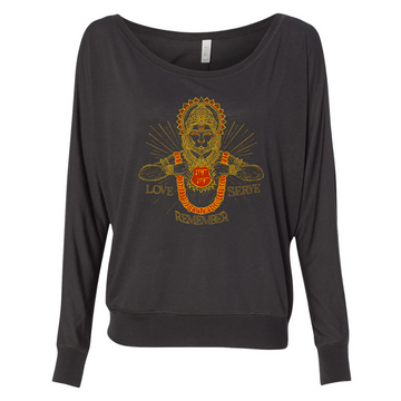 Hanuman Love Serve Remember Longsleeve Flowy Pullover (Women's)