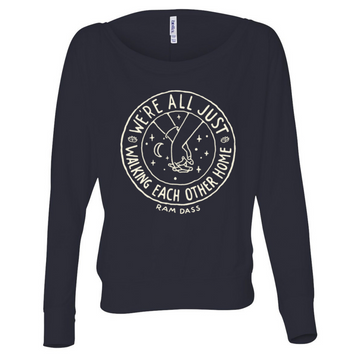 Walking Each Other Home Longsleeve Flowy Pullover (Women's)
