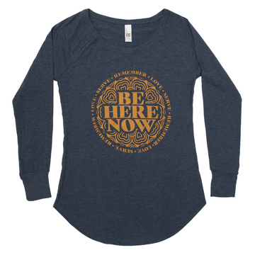 Be Here Now Long Sleeve Tunic Tee (Women's)