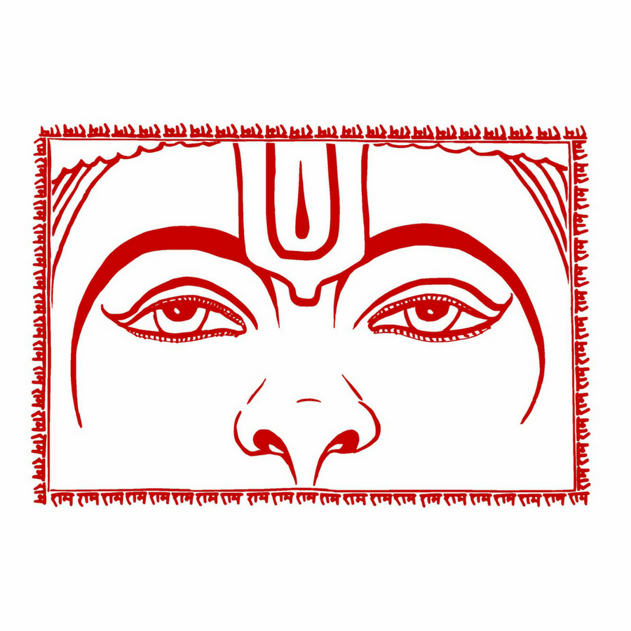 Hanuman Eyes Prayer Flag