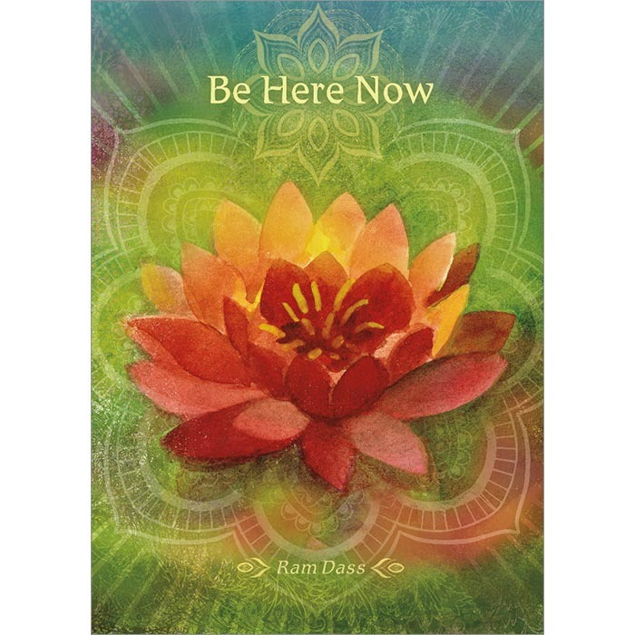 Be Here Now Inspirational Greeting Card (6 Pack)