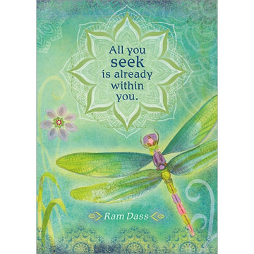 All you seek is already within you. Encouragement Greeting Card (6 Pack)