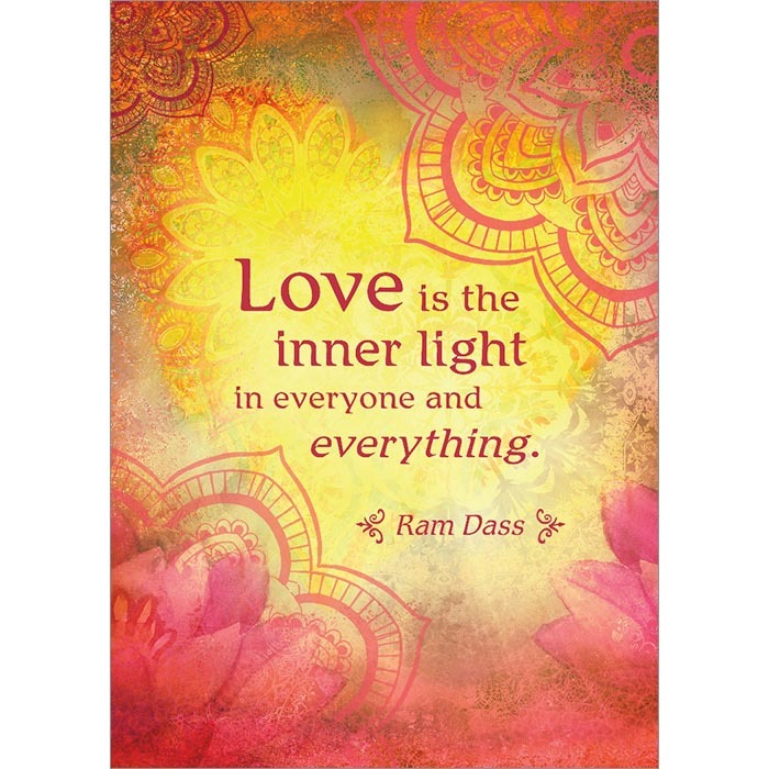 Love is the inner light. Inspirational Greeting Card (6 Pack)