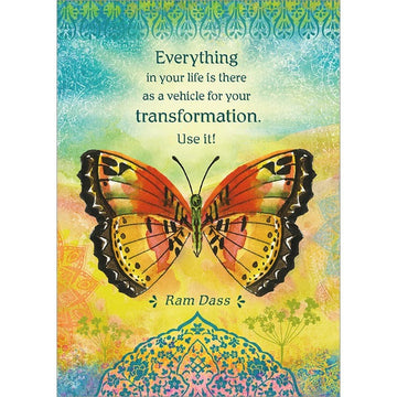 Ram Dass Transformation Greeting Card