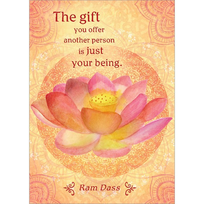 The Gift You Offer. Inspirational Greeting Card (6 Pack)